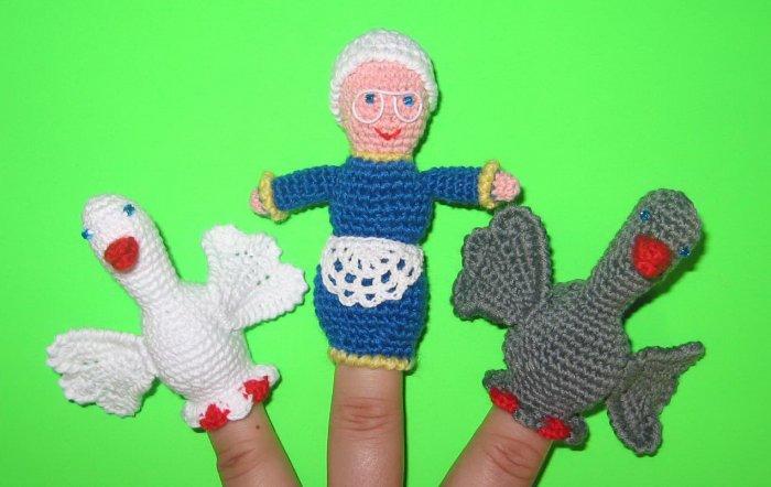Связать кукольный пальчиковый театр